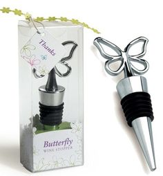 Gift Packaged Butterfly Wine Stopper from Wedding Favors Unlimited