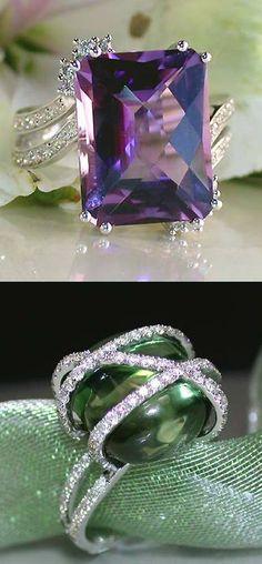 Green or Purple amethyst ♥✤ | KeepSmiling | BeStayClassy
