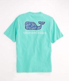 Sea Life Batik Whale Pocket T-Shirt