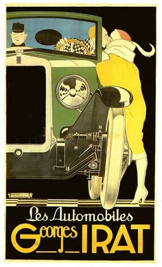 Vintage Ad - René Vincent, Les Autos Georges Irat, 1923.