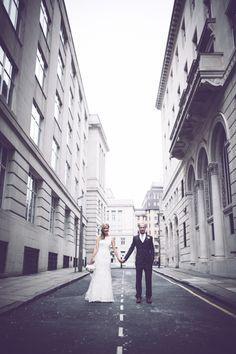 DIY White City Wedding http://www.amyfaithphotography.com/ creative artistic fun wedding photography liverpool north west uk international architecture bride groom street city