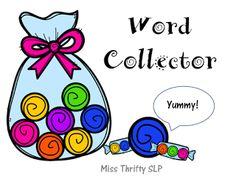 Speechie Freebies: Sweet as Candy-Word Collector. Nouns and Verbs Speech Sorting Game to Create Sentences for Syntax Practice. Pinned by SOS Inc. Resources. Follow all our boards at pinterest.com/sostherapy/ for therapy resources.