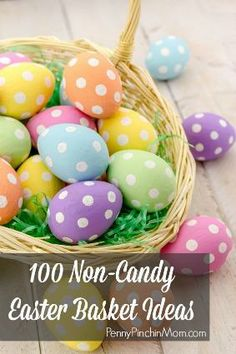 Easter baskets don't need to be all  candy - we love these ideas for non-sweets to fill your baskets with!