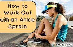 With a few modifications, it it possible to continue to exercise after you've sprained your ankle. Here's how.
