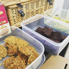 Our resident chef has been busy this morning in the #britishcornershop #testkitchen and the team have been munching their way through all the tasty food #recipetesting #greatdayintheoffice #glutenfree #brownies #flapjacks #pastadish #happydays