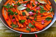 Carrots with white wine and herbs!