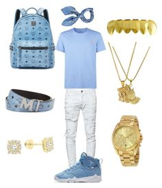 """""""Mall Vibez"""" by chiefkeefsosaa on Polyvore featuring MCM, Dsquared2, Roial, Polo Ralph Lauren, Michael Kors, NIKE, Manipuri, men's fashion and menswear"""