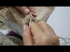Chaqueta de punto para mujer tutorial. 2º paso, sisa de la manga - YouTube