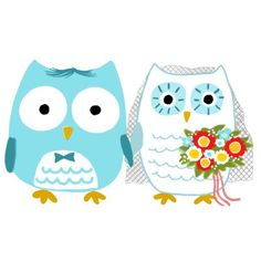 Owls Bride and Groom -