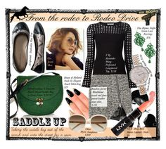 """""""From the rodeo to Rodeo Drive"""" by pwterrill ❤ liked on Polyvore featuring Anna Sui, Aéropostale, House of Holland, Tità Bijoux, Bouchra Jarrar, T By Alexander Wang, Michael Kors, Topshop, Chloé and saddleup"""