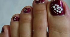 Today I want to share with you another simple nail art design using sticker and nail art pen . The items used are shown below: . Flower Pedicure Designs, Toenail Art Designs, Simple Nail Art Designs, Beautiful Nail Designs, Glitter Pedicure Designs, Flower Toe Nails, Flower Nail Art, Pretty Toe Nails, Cute Toe Nails