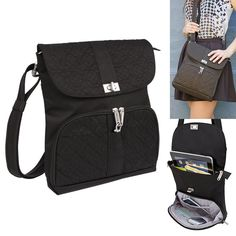 online shopping for Travelon RFID Anti Theft Shoulder Handbag Purse Lady Messenger Bag Travel Black from top store. See new offer for Travelon RFID Anti Theft Shoulder Handbag Purse Lady Messenger Bag Travel Black Travel Purse, Travel Luggage, Travel Bags, Travel Packing, Travel Clothes Women, Luxury Handbags, Women's Handbags, Designer Handbags, Medium Bags