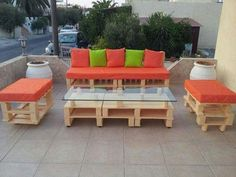 Outdoor Pallet furniture set