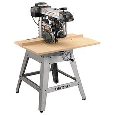 Many woodworkers tend to think of the radial-arm saw as a bad investment. The radial-arm saw may be the most versatile woodworking machine of the lot. Used Woodworking Tools, Wood Tools, Woodworking Supplies, Woodworking Bench, Woodworking Projects, Woodshop Tools, Grizzly Woodworking, Unique Woodworking, Japanese Woodworking