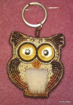 Bead embroidery owl (Tutorial on Youtube)