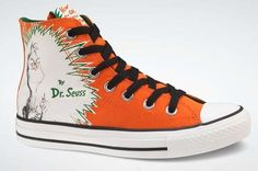 New Converse DR. SEUSS The GRINCH All Star Chuck Taylor Red Shoes cat in the hat