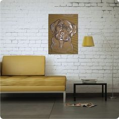 #labrador #cardboard #drawing #wallart #homedecor Labrador, Couch, Wall Art, Drawings, Handmade, Furniture, Home Decor, Settee, Hand Made