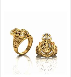 Gold Finger Rings, Mens Gold Rings, Gold Rings Jewelry, Hand Jewelry, Gold Jewellery Design, Rings For Men, India Jewelry, Vintage Jewellery, Latest Gold Ring Designs