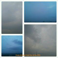 Grey rainy skies