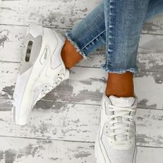 NIKE LOVIN'✔️▫️ These new Air Max are on point💥ShopNike Air Max 90 White Trainers at PINKBOUTIQUE.CO.UK #pinkboutique #pinkboutiqueuk #nike #airmax👌