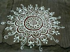 Indian Rangoli Designs, Simple Rangoli Designs Images, Rangoli Designs Latest, Rangoli Designs Flower, Rangoli Border Designs, Latest Rangoli, Rangoli Designs With Dots, Beautiful Rangoli Designs, Mehndi Designs