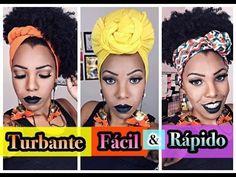 3 AMARRAÇÕES De TURBANTES SUPER FÁCIL e RÁPIDO para cabelo crespo e cacheado - Luany Cristina - YouTube