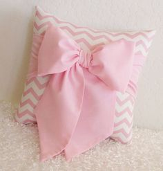 Pink And Black Bow Accent Throw Pillow 1 12 X By