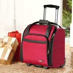 """#travel The most important: fits under the seat on most airlines. We love this quilted nylon roll-aboard bag for weekend getaways, or to take your magazines, books, blanket, and other essentials on board."""" This lightweight underseater with easy-glide wheels takes the place of a multitude of cumbersome carry-ons that can weigh you down."""