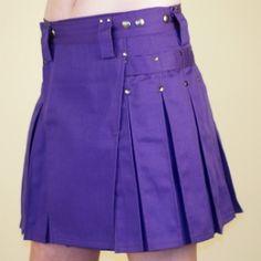 Women's Purple Kilt w/Gun Metal Rivets