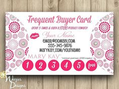 Mary Kay Frequent Buyer Card Business Card by WeeziesDesigns, $8.00