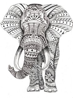 animal coloring pages for adults bing images - Elephant Color