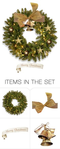 """Christmas Wreath"" by terry-tlc ❤ liked on Polyvore featuring art, Christmas, holidays, artset and polyvoreeditorial"