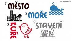 Vzory rodu středního , město🏙️, moře🌅, kuře🐤, stavení🏡 Activities, Education, Logos, School, Fun, Teaching Ideas, Google, Literatura, Dyslexia