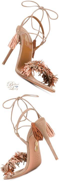Brilliant Luxury by Emmy DE ♦ Aquazzura Pom Pom Sandals