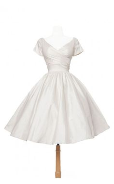 Ava Swing Dress in Ivory Taffeta- Coming soon! Be sure to join the wait list to be the first to know when it is released!