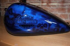 Ideas for motorcycle shop ideas custom bikes Custom Motorcycle Paint Jobs, Custom Paint Jobs, Custom Harleys, Custom Bikes, Airbrush Skull, Harley Davidson Pictures, Motorcycle Tank, Motorcycle Gifts, Skull Painting