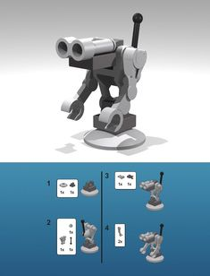 One of the cutest little minibots by Marco and his son.