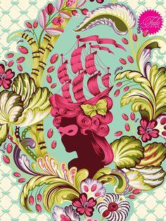 "54"" x 72"" Tula Pink Parisville Quilt Backing"