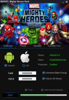 """Marvel Mighty Heroes Hack Cheat Engine No Survey """"Android 