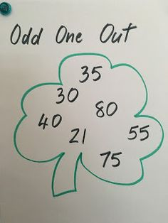 The kids love the challenge of this St. Patrick's Day math activity! Simple to create and prepare!