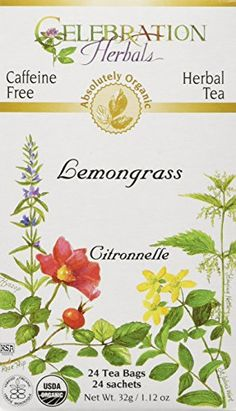 Celebration Herbals Organic Lemongrass Tea Caffeine Free  24 Herbal Tea Bags -- Check out this great product. (This is an affiliate link and I receive a commission for the sales)