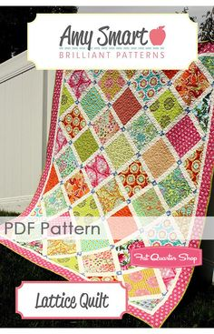 Lattice Downloadable PDF Quilt Pattern Amy Smart Brilliant Patterns - Fat Quarter Shop