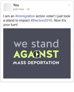 Share Immigration Voter on Facebook