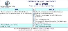 Diferencia en inglés entre So y Such