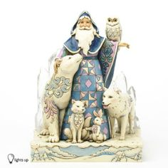 Amazon.com: Jim Shore Winter Santa Masterpiece Figurine: Everything Else