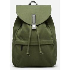 Everlane Men's Modern Twill Single Snap Backpack - Large ($65) ❤ liked on Polyvore featuring bags, backpacks, dark green, rucksack bag, everlane bags, green bag, snap bag and knapsack bag