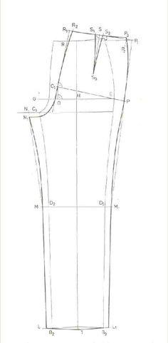 női nadrág alap szabásminta