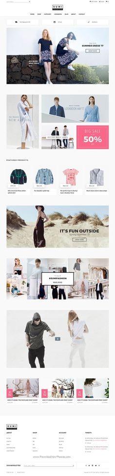 Sumi is clean and modern design PSD template for stunning #clothes store #eCommerce website with 24 layered PSD pages download now #webdesign