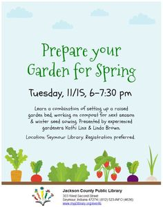 THIS PROGRAM HAS EXPIRED - Get your garden ready for spring!  Learn how from experienced gardeners Kathi Linz and Linda Brown.