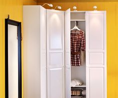 Notre chambre, dressing Love the idea of a corner wardrobe http://www.ikea.com/gb/en/catalog/categories/departments/bedroom/
